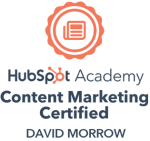 HubSpot Content Marketing Certified-David-Morrow