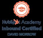 David Morrow HubSpot Inbound Certified